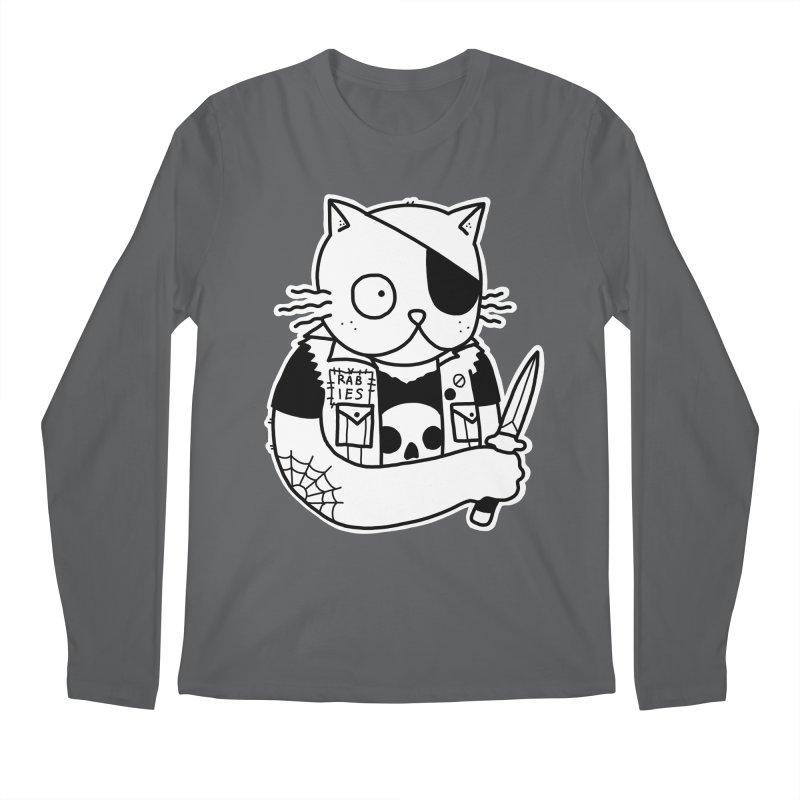 KNIFE CAT Men's Longsleeve T-Shirt by Tittybats