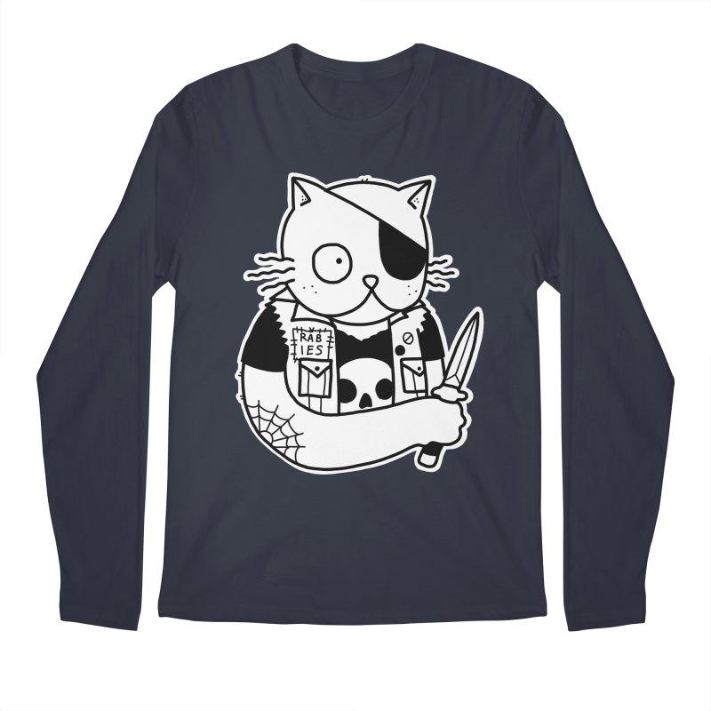 KNIFE CAT Men's Regular Longsleeve T-Shirt by Tittybats's Artist Shop