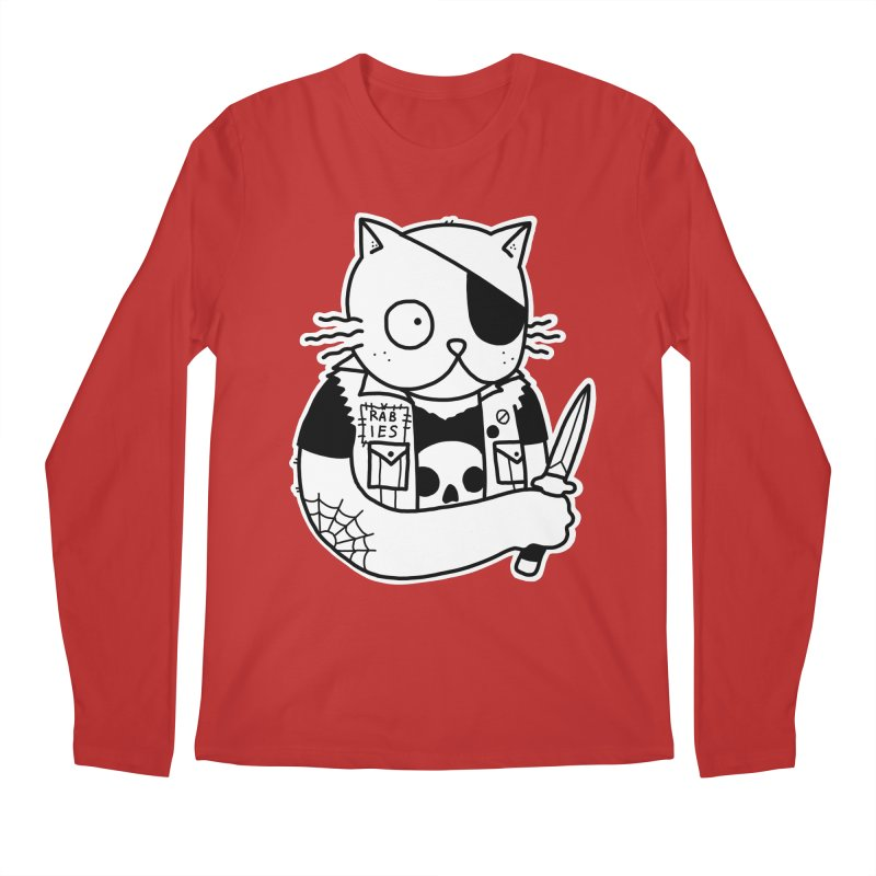KNIFE CAT Men's Regular Longsleeve T-Shirt by Tittybats