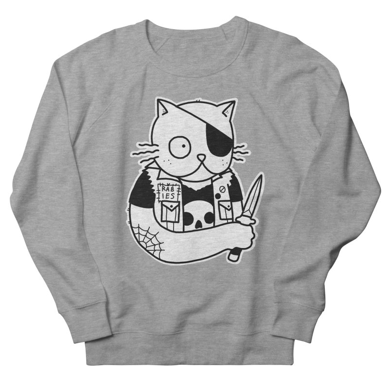 KNIFE CAT Women's French Terry Sweatshirt by Tittybats's Artist Shop
