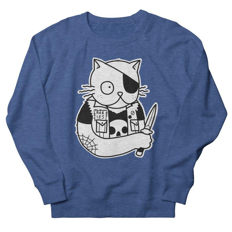 KNIFE CAT Men's French Terry Sweatshirt by Tittybats's Artist Shop