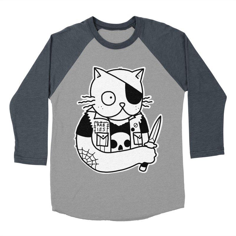 KNIFE CAT Men's Baseball Triblend Longsleeve T-Shirt by Tittybats's Artist Shop