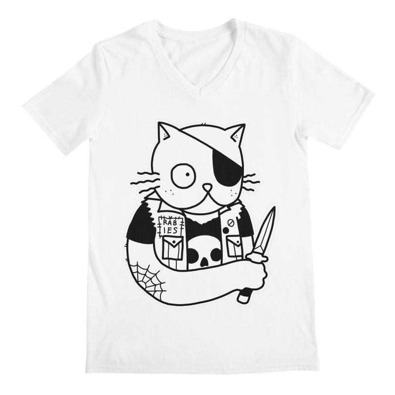KNIFE CAT Men's V-Neck by Tittybats