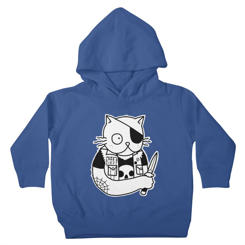 KNIFE CAT Kids Toddler Pullover Hoody by Tittybats