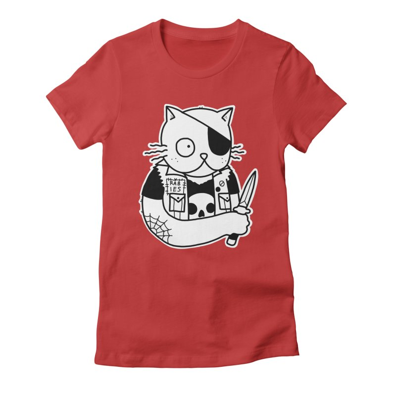 KNIFE CAT Women's Fitted T-Shirt by Tittybats