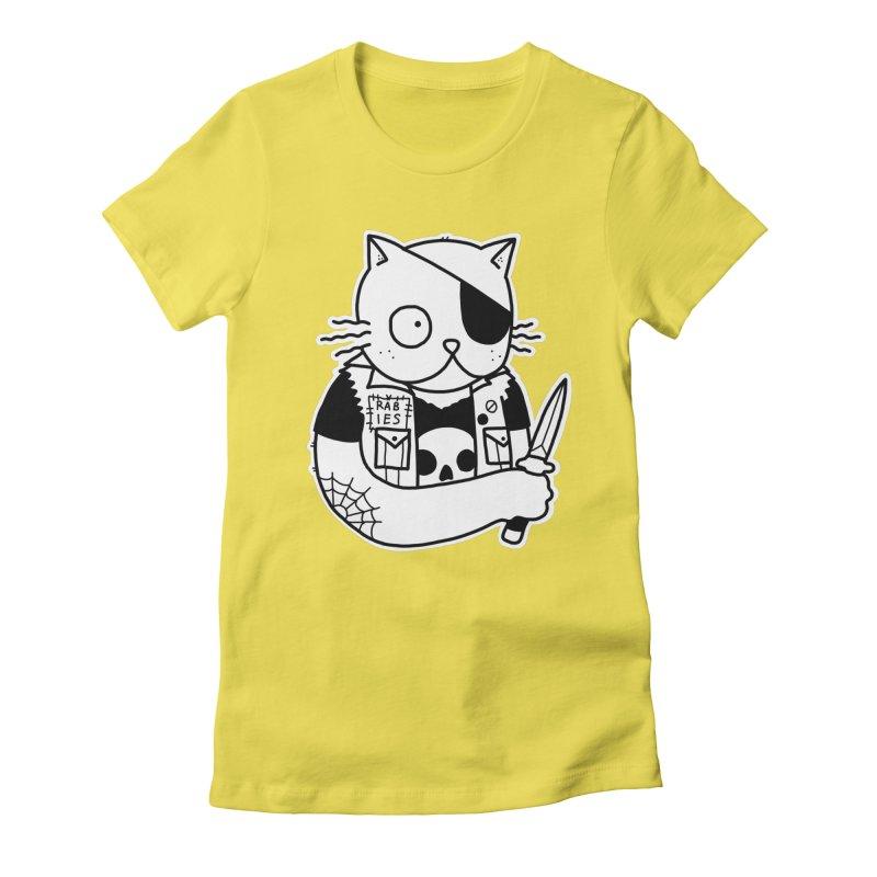 KNIFE CAT Women's Fitted T-Shirt by Tittybats's Artist Shop