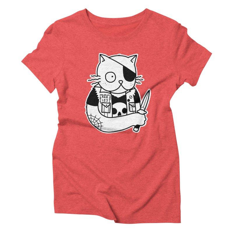 KNIFE CAT Women's Triblend T-Shirt by Tittybats's Artist Shop