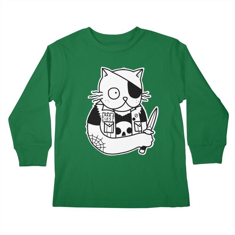 KNIFE CAT Kids Longsleeve T-Shirt by Tittybats's Artist Shop
