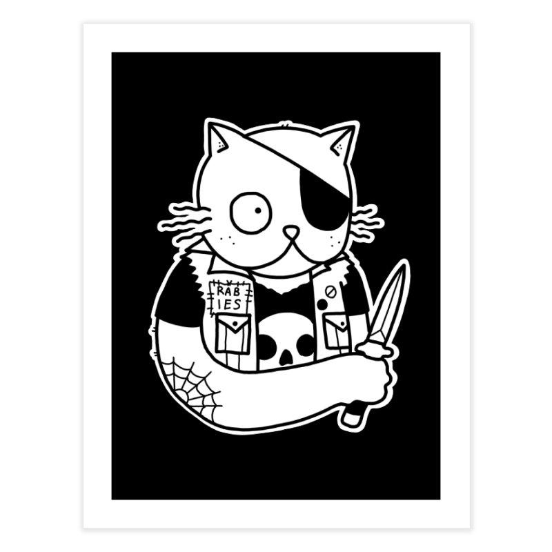 KNIFE CAT Home Fine Art Print by Tittybats's Artist Shop