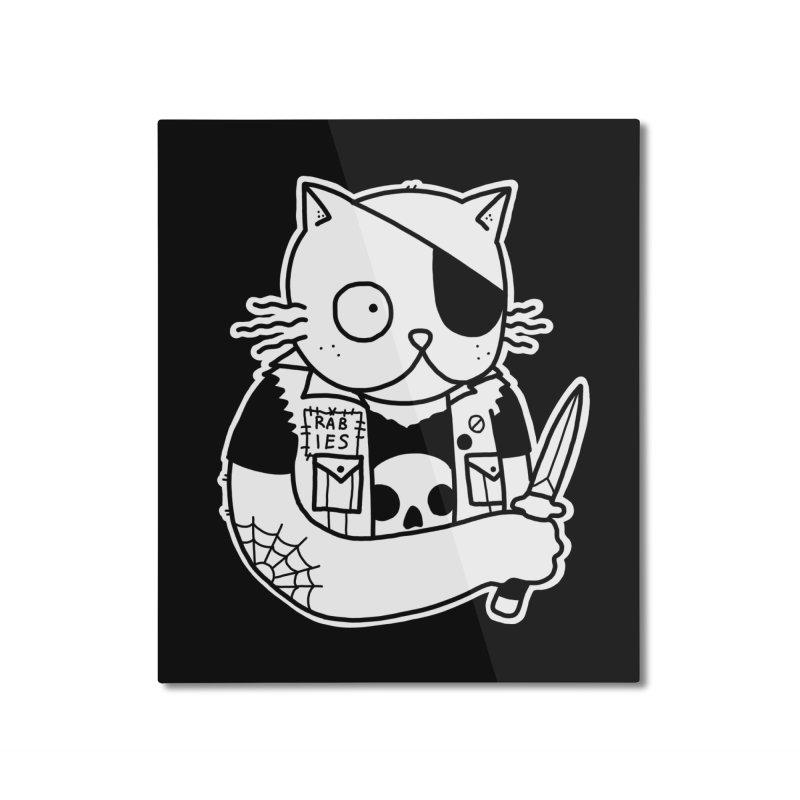 KNIFE CAT Home Mounted Aluminum Print by Tittybats's Artist Shop