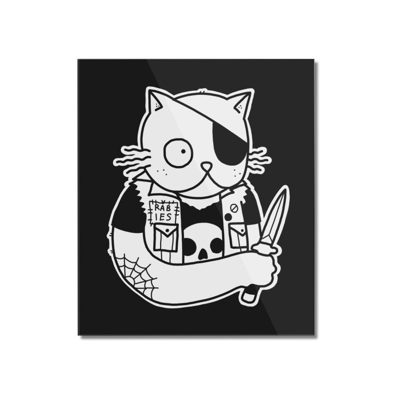 KNIFE CAT Home Mounted Acrylic Print by Tittybats's Artist Shop