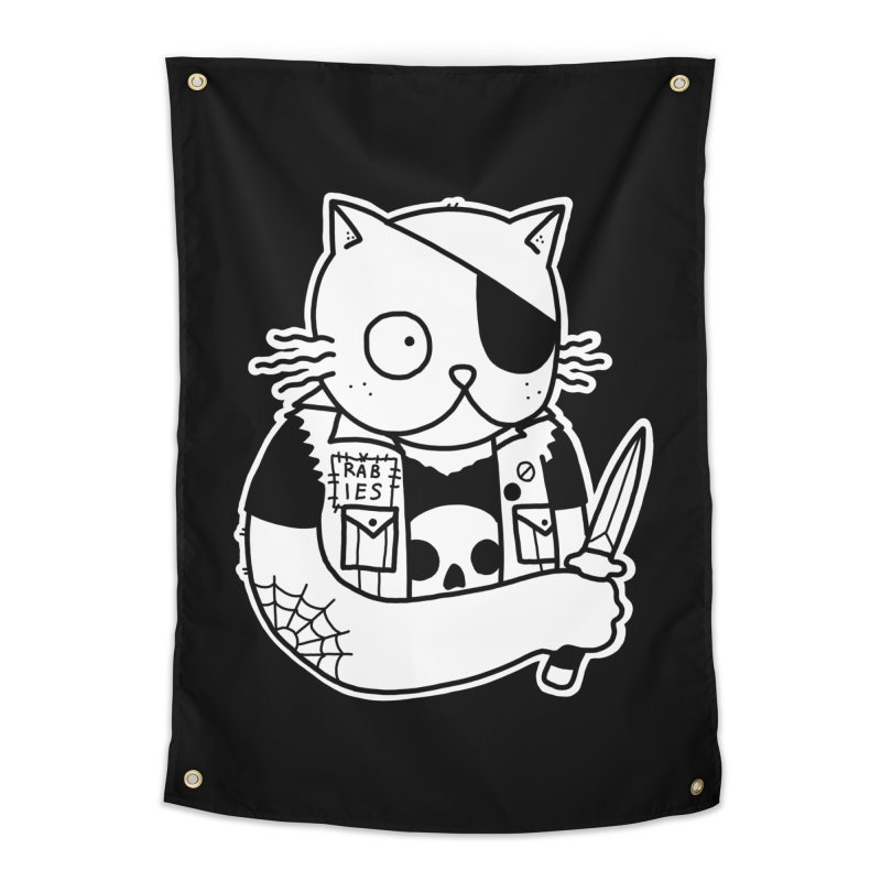 KNIFE CAT Home Tapestry by Tittybats's Artist Shop