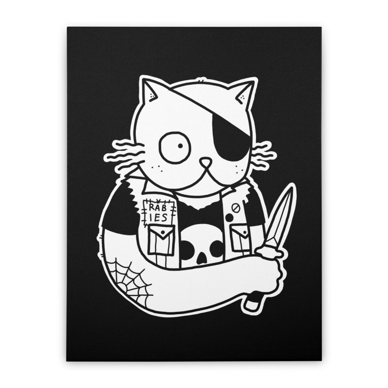 KNIFE CAT Home Stretched Canvas by Tittybats's Artist Shop