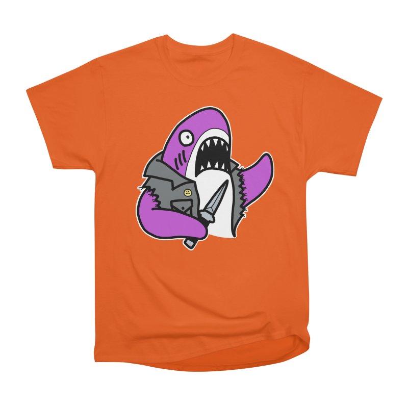 STAB SHARK PINK Men's Heavyweight T-Shirt by Tittybats's Artist Shop