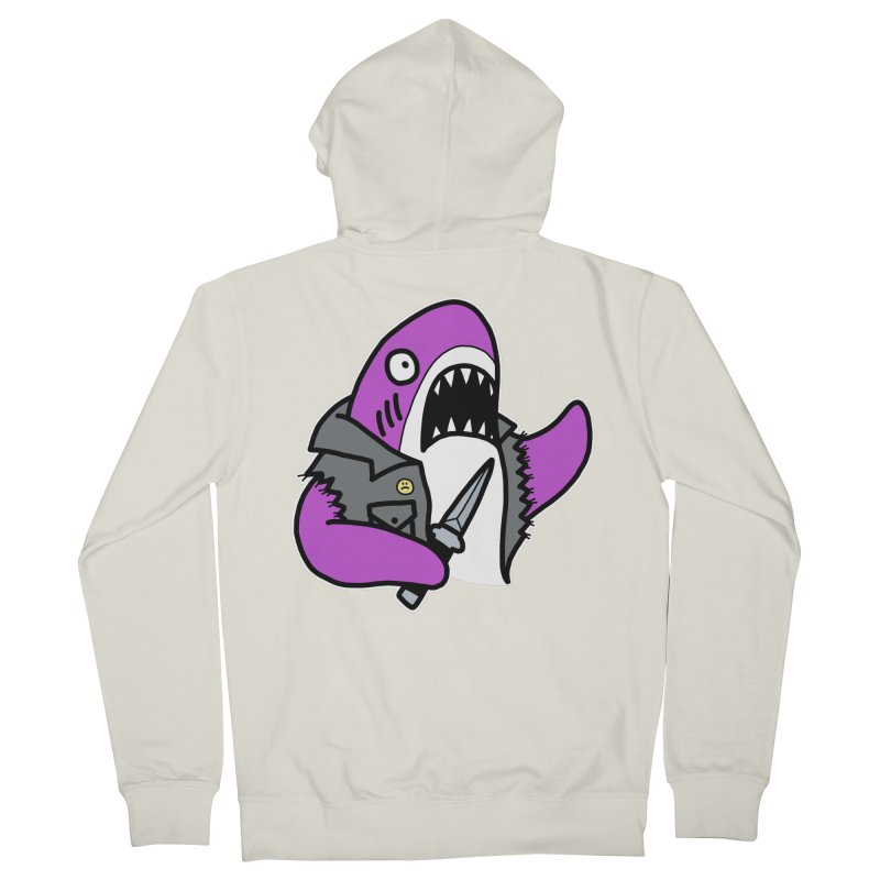 STAB SHARK PINK Men's French Terry Zip-Up Hoody by Tittybats's Artist Shop