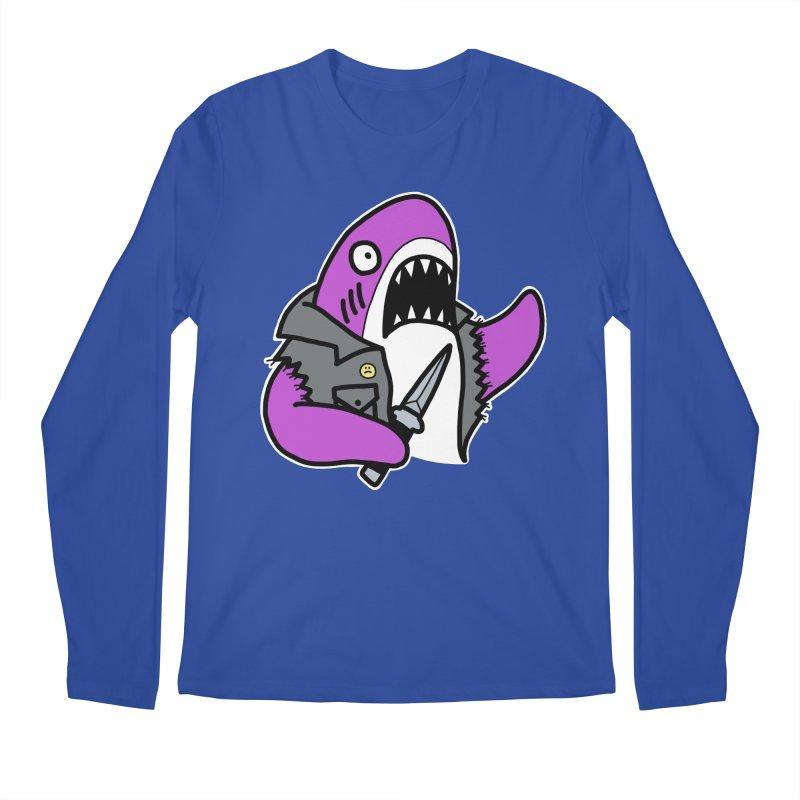 STAB SHARK PINK Men's Regular Longsleeve T-Shirt by Tittybats's Artist Shop