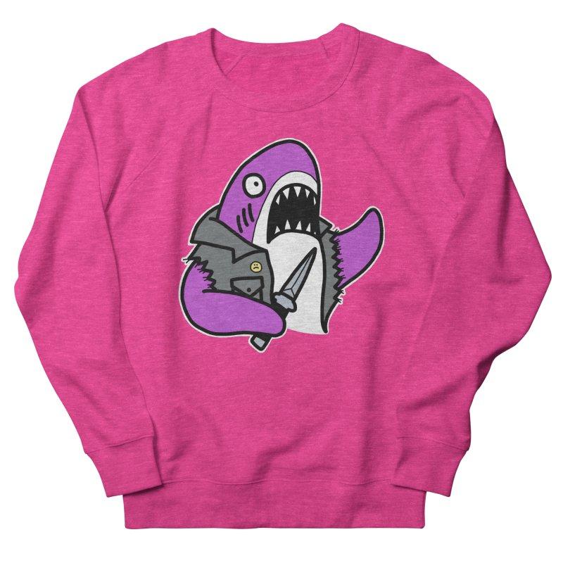 STAB SHARK PINK Men's French Terry Sweatshirt by Tittybats's Artist Shop