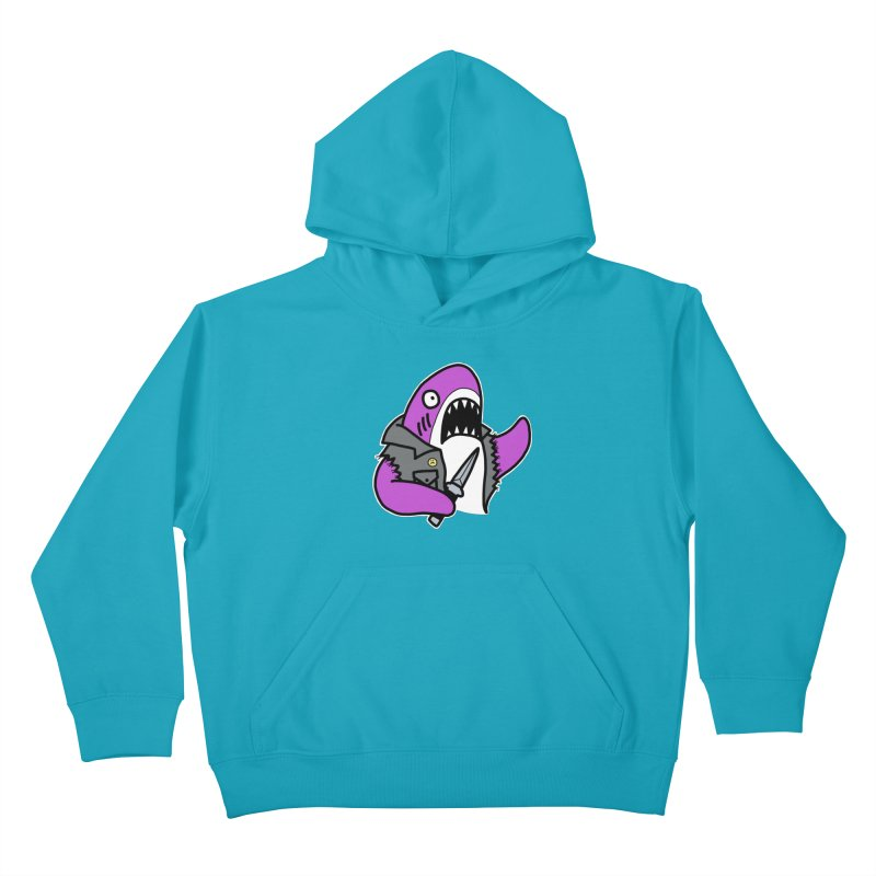 STAB SHARK PINK Kids Pullover Hoody by Tittybats