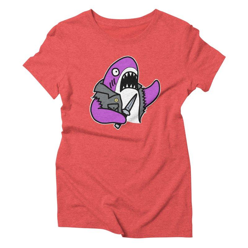 STAB SHARK PINK Women's Triblend T-Shirt by Tittybats's Artist Shop