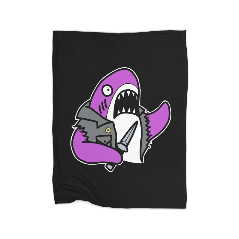 STAB SHARK PINK Home Blanket by Tittybats's Artist Shop
