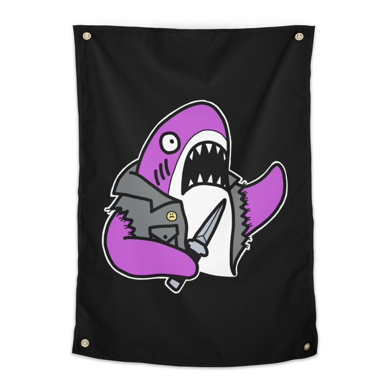STAB SHARK PINK Home Tapestry by Tittybats's Artist Shop