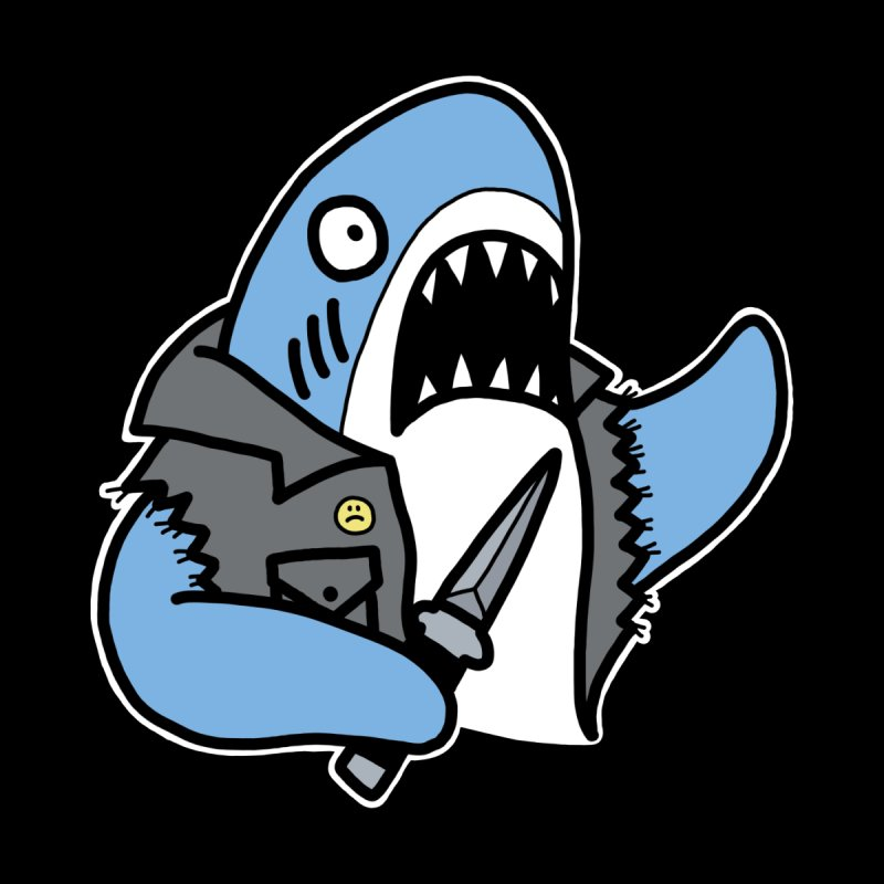 STAB SHARK BLUE by Tittybats