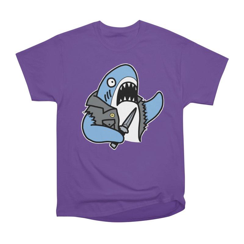 STAB SHARK BLUE Men's Heavyweight T-Shirt by Tittybats's Artist Shop