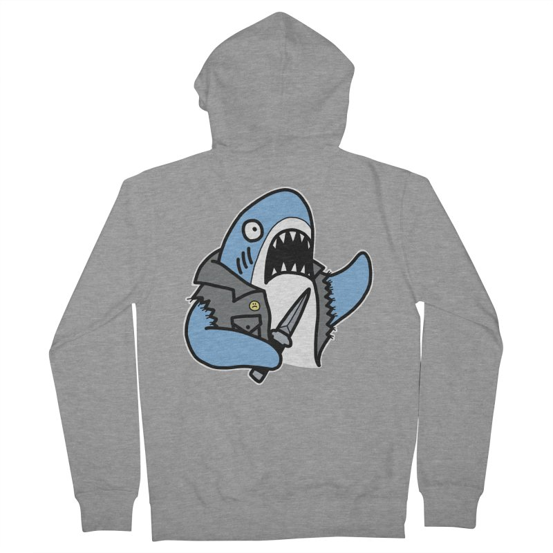 STAB SHARK BLUE Men's French Terry Zip-Up Hoody by Tittybats's Artist Shop