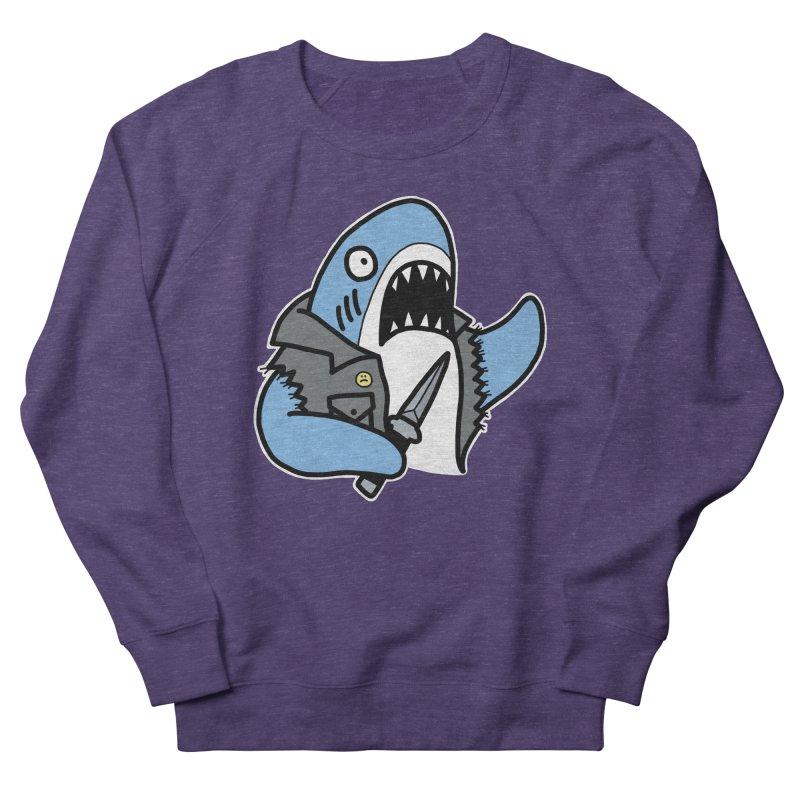 STAB SHARK BLUE Women's French Terry Sweatshirt by Tittybats's Artist Shop