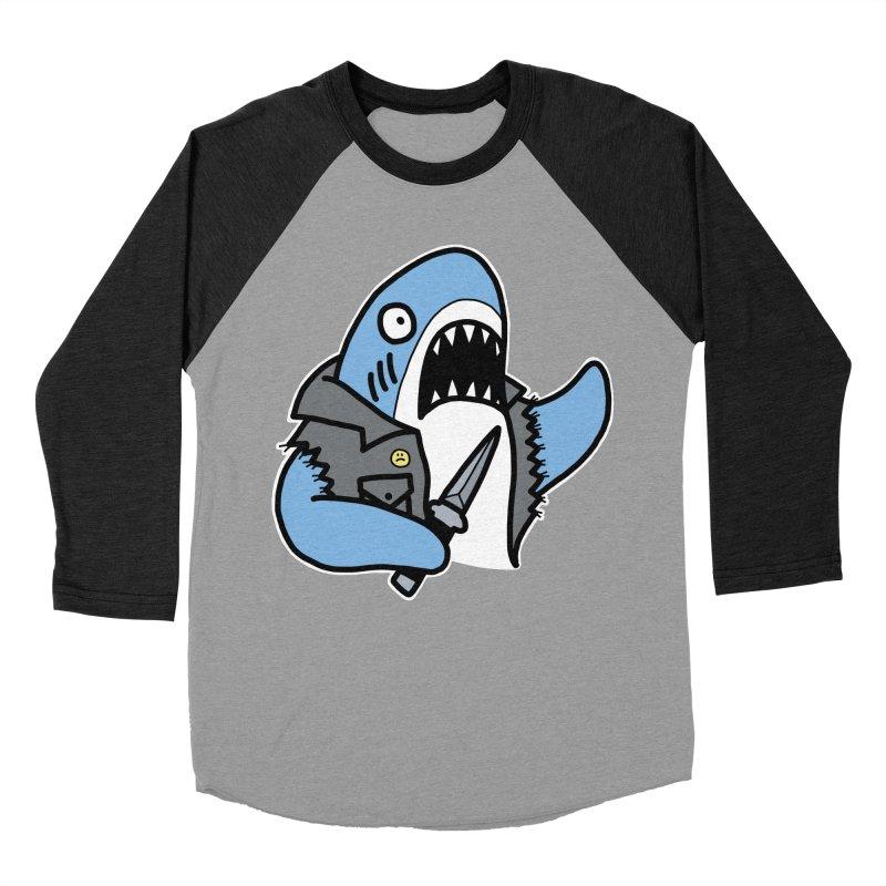 STAB SHARK BLUE Men's Baseball Triblend Longsleeve T-Shirt by Tittybats's Artist Shop