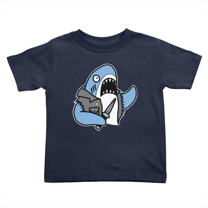STAB SHARK BLUE Kids Toddler T-Shirt by Tittybats's Artist Shop