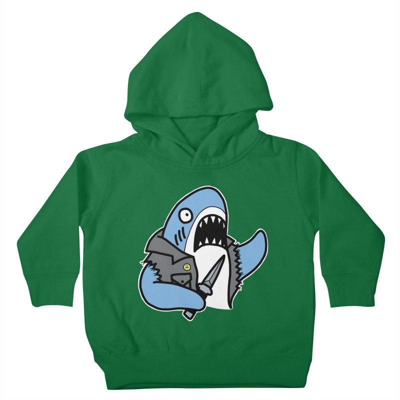 STAB SHARK BLUE Kids Toddler Pullover Hoody by Tittybats's Artist Shop