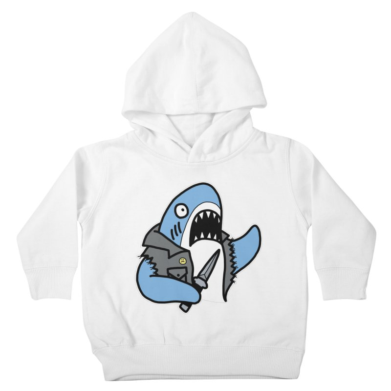 STAB SHARK BLUE Kids Toddler Pullover Hoody by Tittybats