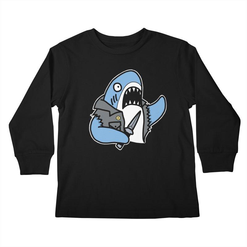 STAB SHARK BLUE Kids Longsleeve T-Shirt by Tittybats's Artist Shop