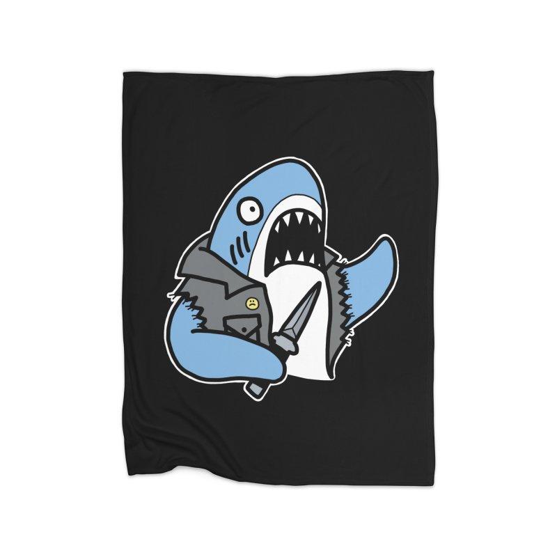 STAB SHARK BLUE Home Blanket by Tittybats's Artist Shop