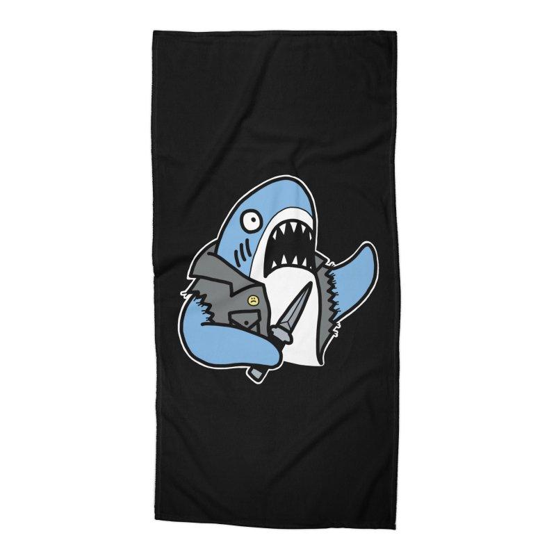 STAB SHARK BLUE Accessories Beach Towel by Tittybats's Artist Shop