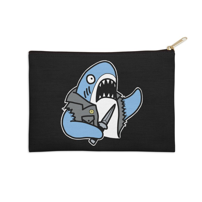 STAB SHARK BLUE Accessories Zip Pouch by Tittybats's Artist Shop