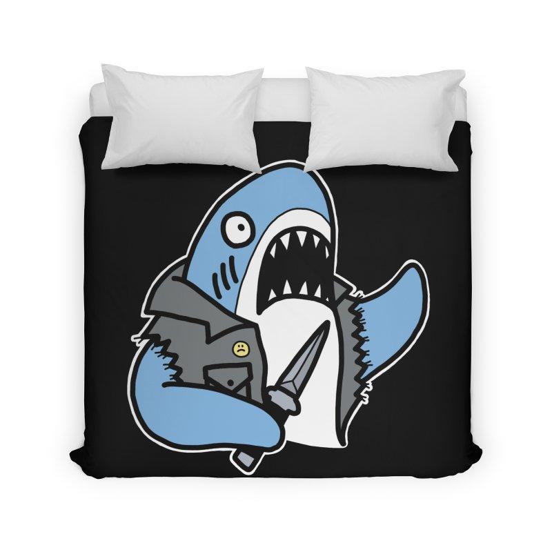 STAB SHARK BLUE Home Duvet by Tittybats's Artist Shop