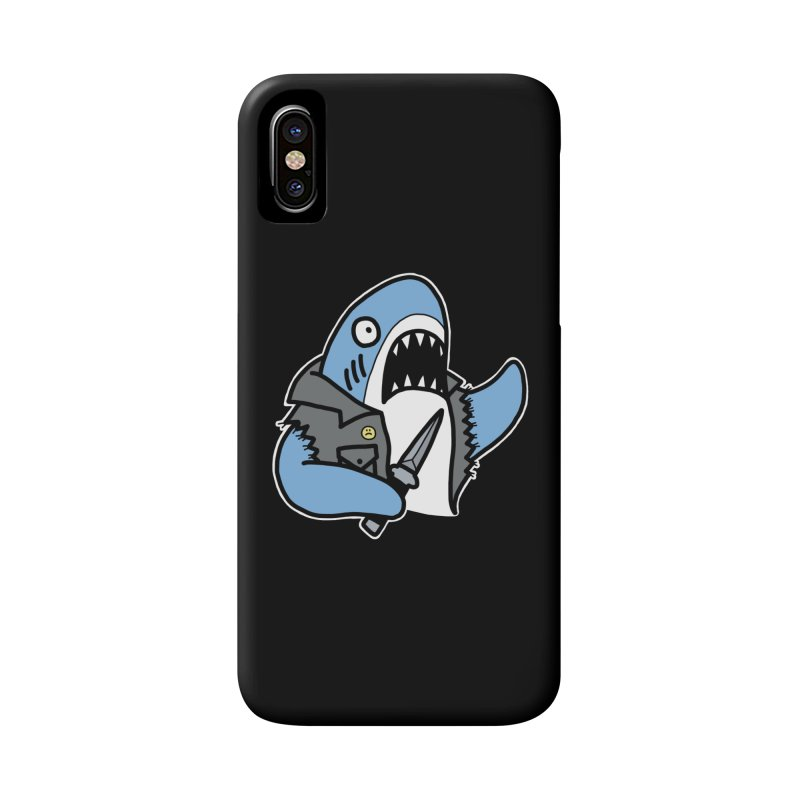 STAB SHARK BLUE Accessories Phone Case by Tittybats's Artist Shop