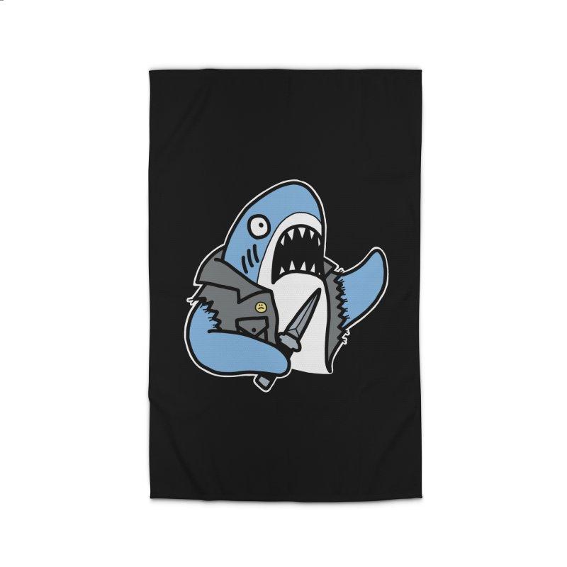 STAB SHARK BLUE Home Rug by Tittybats's Artist Shop