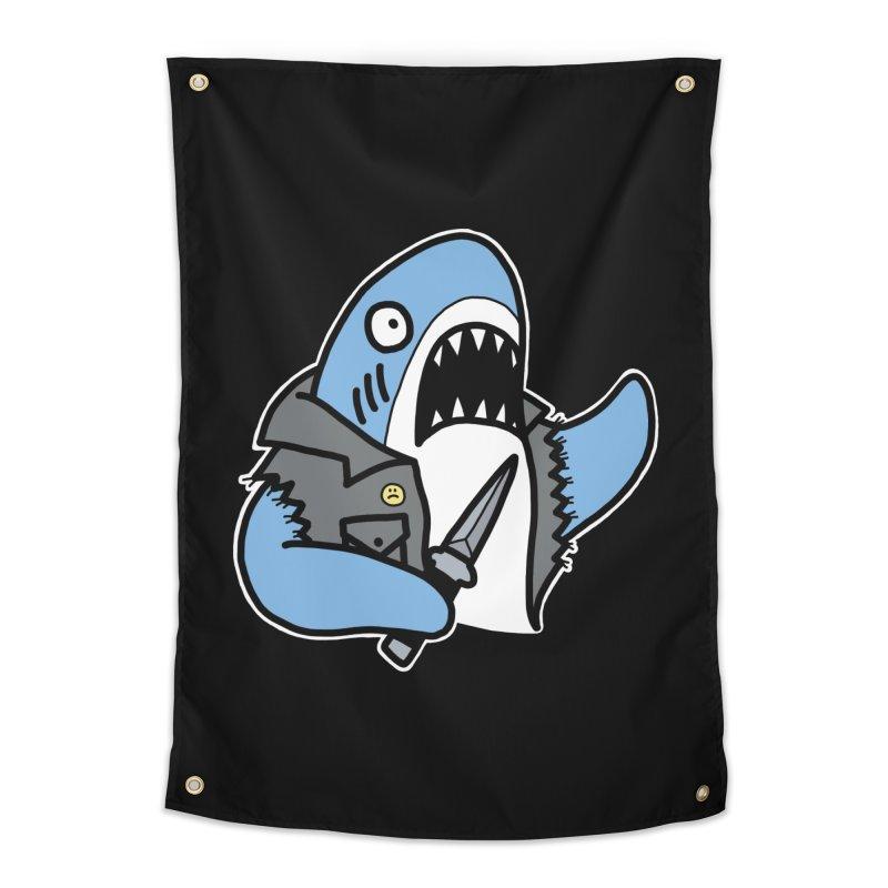 STAB SHARK BLUE Home Tapestry by Tittybats's Artist Shop