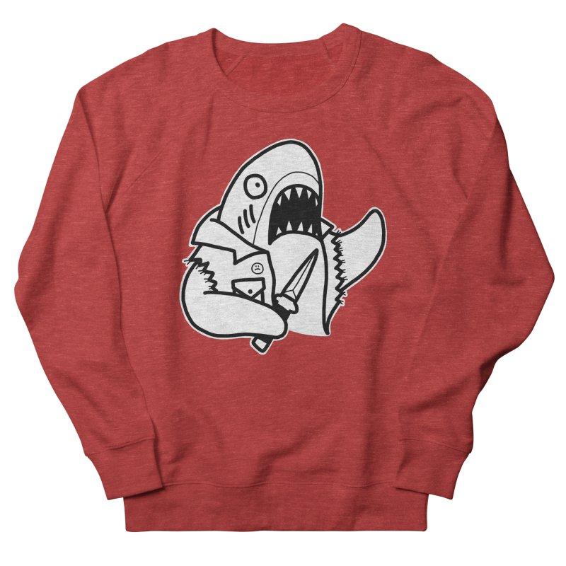 STAB SHARK Women's French Terry Sweatshirt by Tittybats's Artist Shop