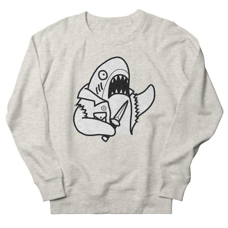STAB SHARK Men's French Terry Sweatshirt by Tittybats's Artist Shop