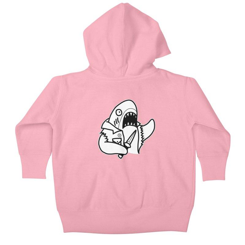 STAB SHARK Kids Baby Zip-Up Hoody by Tittybats's Artist Shop
