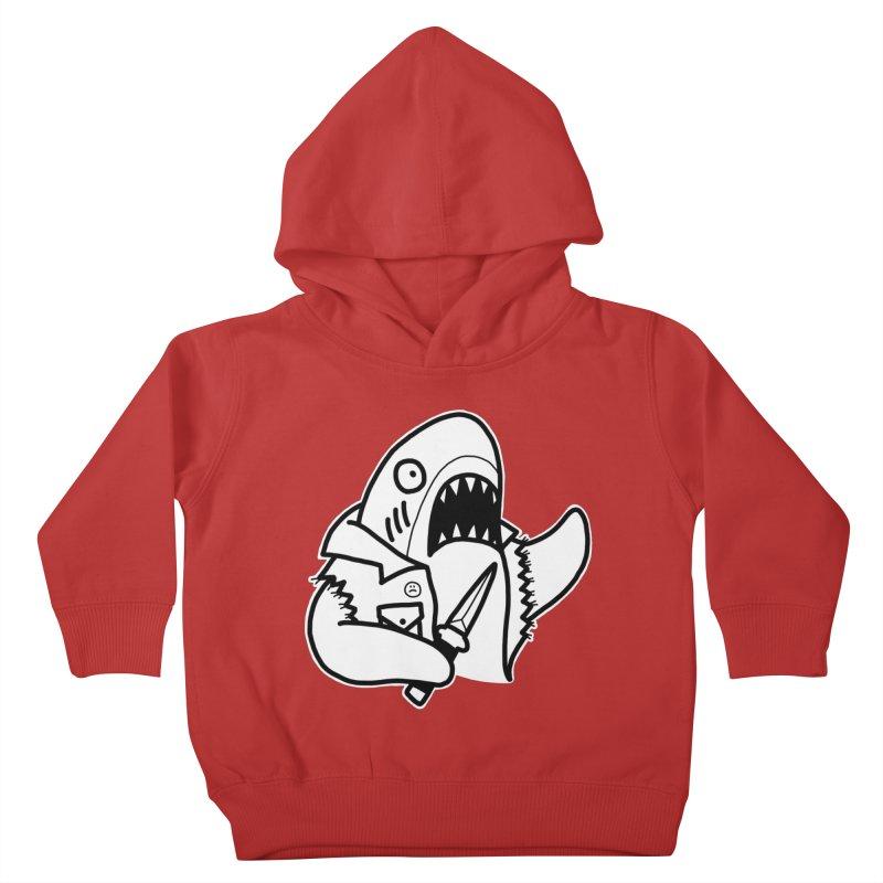 STAB SHARK Kids Toddler Pullover Hoody by Tittybats's Artist Shop