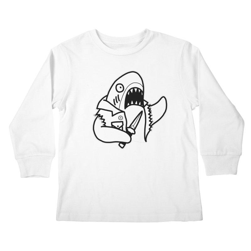 STAB SHARK Kids Longsleeve T-Shirt by Tittybats's Artist Shop