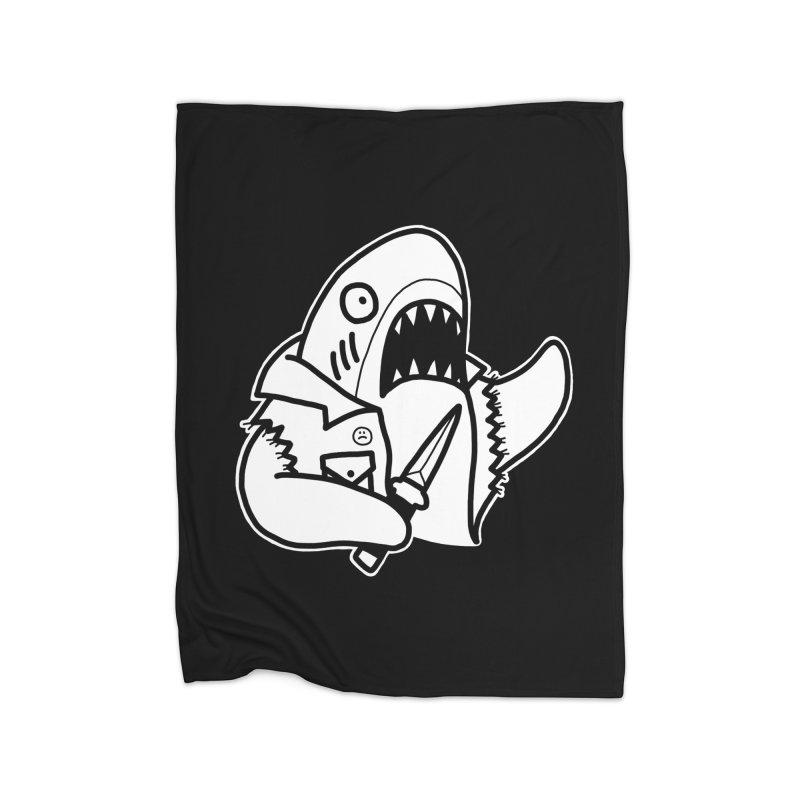 STAB SHARK Home Blanket by Tittybats's Artist Shop