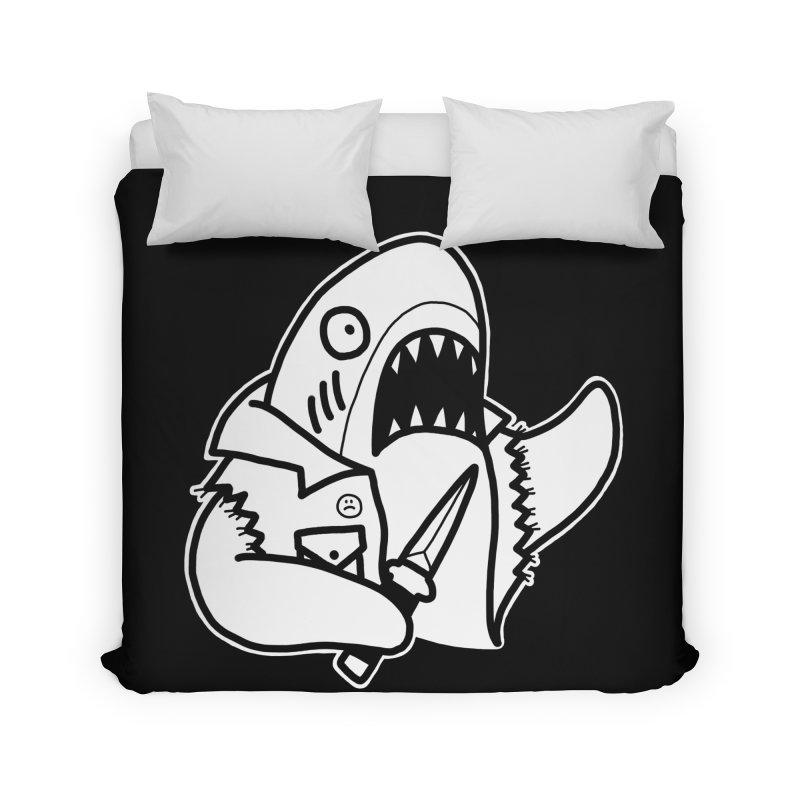 STAB SHARK Home Duvet by Tittybats's Artist Shop