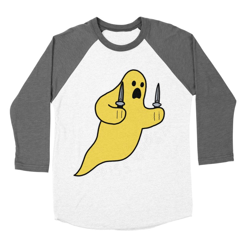 PISS GHOST Women's Baseball Triblend Longsleeve T-Shirt by Tittybats