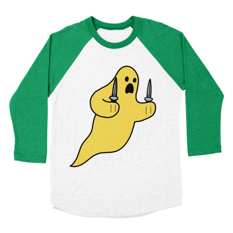 PISS GHOST Men's Baseball Triblend Longsleeve T-Shirt by Tittybats's Artist Shop